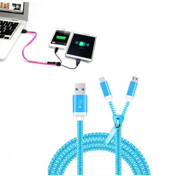 zipper 2in1 charging cable